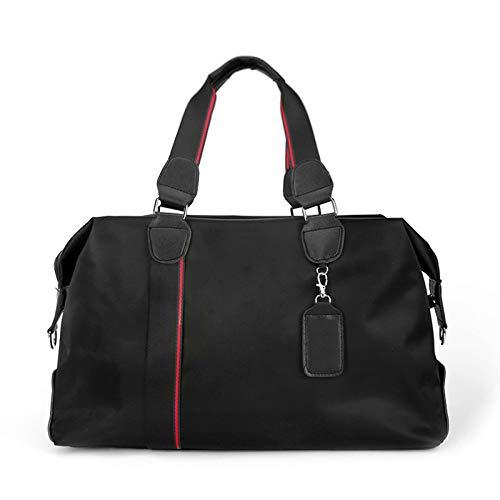 Travel Bag - Men's Handbags Shoulderfold Business Bags Cross-Span Waterproof Travel Bag Red Line 43 * 16 * 32