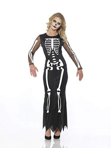 Karnival Women's Skeleton Dress (Medium) Black