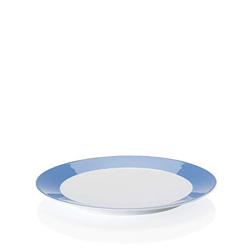 Arzberg 497–606546–127 Electric Bleu Assiettes Plates 27 cm/FA, Porcelaine, Blue, 27,7 x 27,3 x 8,6014 cm