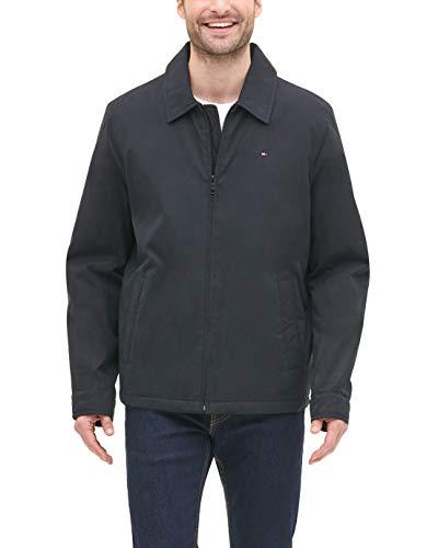 Tommy Hilfiger Men's Lightweight Microtwill Golf Jacket (Standard and Big & Tall), Black, Large