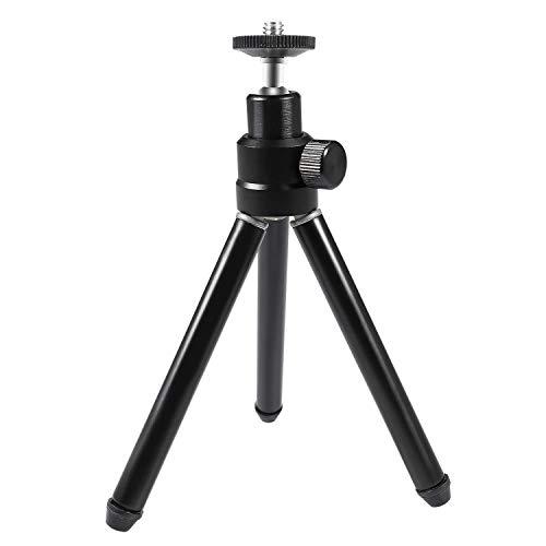Treppiede per webcam estensibile e portatile, AUSDOM LT1 mini treppiede in alluminio leggero AUSDOM con vite di montaggio da 1/4 '' per webcam Gopro piccole fotocamere digitali (non DSLR)