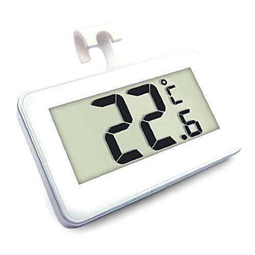 Nevera Termómetro, a Prueba de Agua Refrigerador Congelador la Temperatura del termómetro del Monitor LCD de fácil Lectura Pantalla con Hook -20 a 60 Grados
