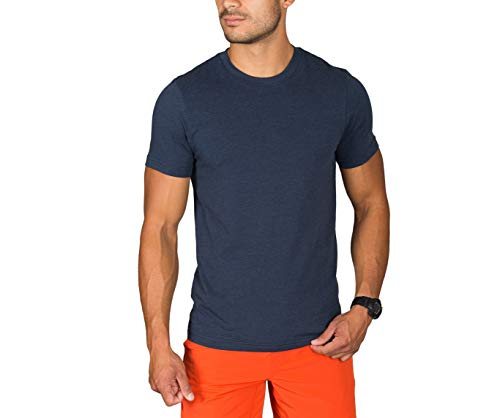 Rhone Element Tee, Peruvian Cotton Tee Shirt for Soft Texture and Feel (Navy, XX-Large)
