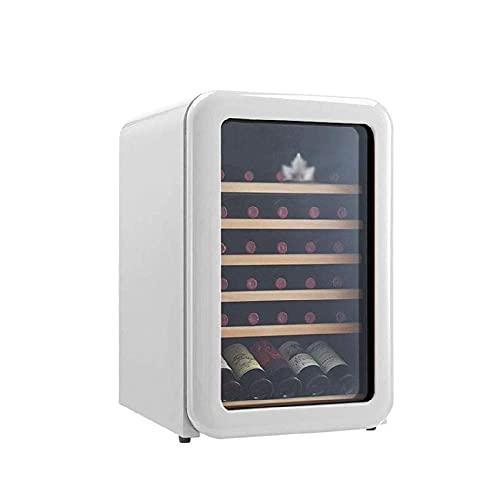 N/Z Equipo para el hogar Refrigerador Retro para Bodega 30 Botellas Independiente Enfriador de Vino Tinto/Blanco/Enfriador de 5 Grados;C 18 Grados;C Almacenamiento a Temperatura Constante (Color: