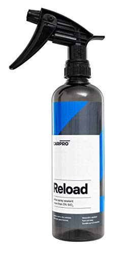 CarPro Reload Spray Sealant 500ml with Sprayer_Glass-Like Gloss, Hydrophobicity and Silica Nanotechnology, Repels Dirt, Spray-On, Wipe-Off Car Sealant.