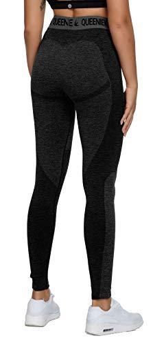 QUEENIEKE Women Seamless Sports Leggings Energy Pants Slim Fit Gym Tight Size 8/10 Color Black