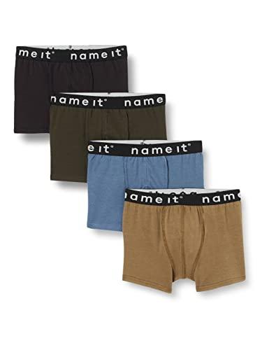 NAME IT Jungen Nkmboxer 4p Stone Gray Noos Boxershorts, 146-152