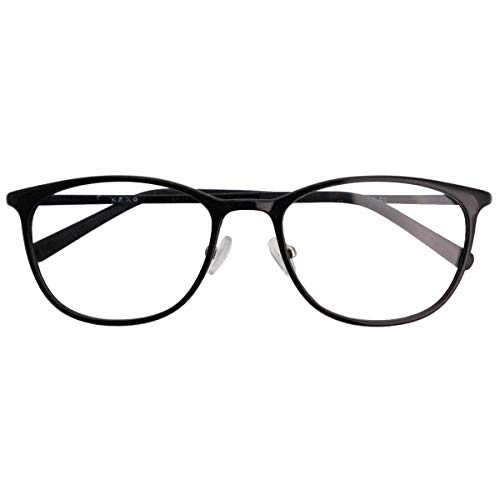 SHOWA 遠近両用メガネ ウルテムツインズ ウェリントン (レディースセット) 全額返金保証 境目のない 遠近両用 眼鏡 老眼鏡 おしゃれ レディース 女性 リーディンググラス (瞳孔間距離:男性平均62mm〜64mm, 近くを見る度数:+2.0)