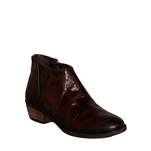 Felmini - Damen Schuhe - Verlieben Gin B003 - Reißverschluss Stiefeletten - Echtes Leder - Braun - 38 EU Size