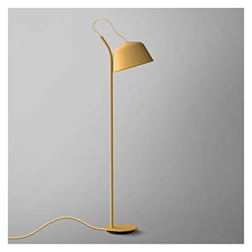 TAIYUANNT lámpara de Piso Estudio Dormitorio Cama macarrones lámpara de pie sofá Creativo Web Celebridad Vertical Escritorio lámpara Metal lámpara de Flores Cuarto (Lampshade Color : Yellow)