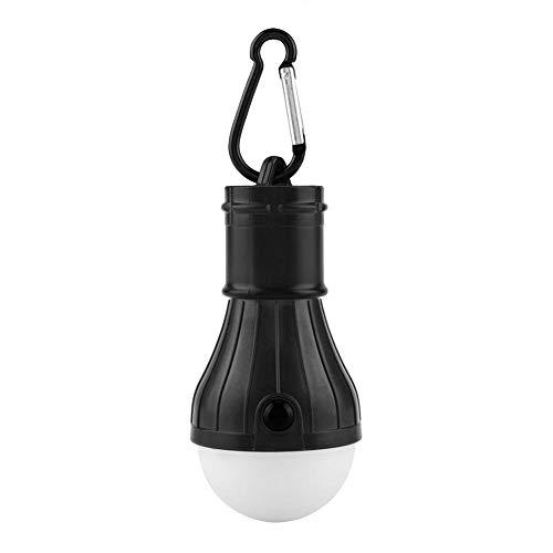 LED campingtältlampor lykta, bärbar utomhus tältlampa akutlampa lampa för camping, vandring, utflykt, fiske, utomhus inomhus (svart)