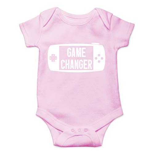 Game Changer - Player 3 Has Entered The Game - Cute One-Piece Infant Baby Bodysuit (6 Months, Pink)