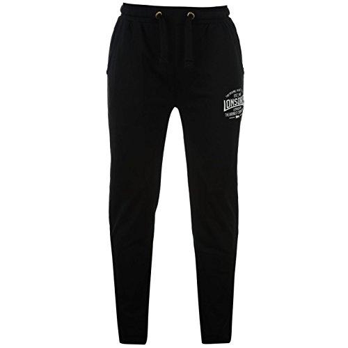 Lonsdale Herren Boxen Jogginghose Sweatpants Fitness Trainingshose Sporthose Schwarz Large