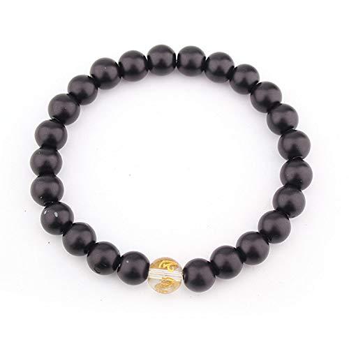 Baovfu Armband van natuursteen, natuursteen parelarmband mode yoga energie armband letter-accessoire gematteerde bead-armband gepersonaliseerde kleding accessoires sieraden cadeau