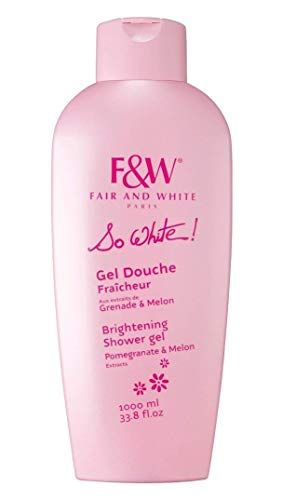 Fair and White So White! Refreshing Shower Gel with Pomegranate & Melon Extracts, 1000ml / 33.8fl.oz.