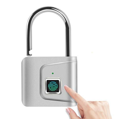 TWDYC Serratura della Porta di Sicurezza Smart Smartless USB USB Ricaricabile Fingerprint Lucchetto per Locker Sport Scuola di Zinco in Lega di Zinco
