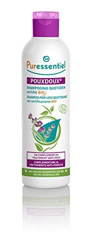 Puressentiel - AntiPidocchi - Pouxdoux shampoo per uso quotidiano bio con certificazione Ecocert - risana il cuoio capelluto, aiuta a rimuovere le lendini e i pidocchi morti - 200ml