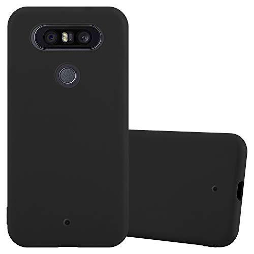 Cadorabo Custodia per LG Q8 in CANDY NERO - Morbida Cover Protettiva Sottile di Silicone TPU con Bordo Protezione - Ultra Slim Case Antiurto Gel Back Bumper Guscio