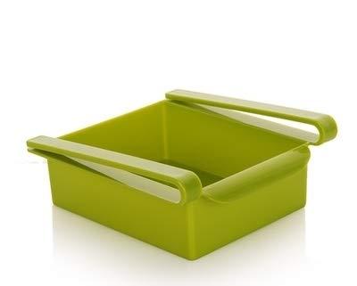 QICHENGBIN Mini Coffret à Bijoux Cuisine Réfrigérateur Multifonction Support de Rangement Réfrigérateur-congélateur Porte-Shelf, for réfrigérateur et Un Bureau (2 PCS) (Color : Green)