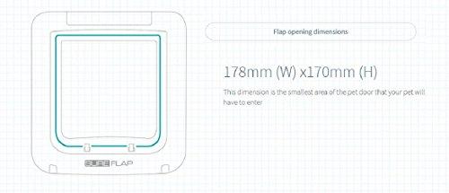 SureFlap Mikrochip Haustierklappe mit Zeitschaltuhr - 5