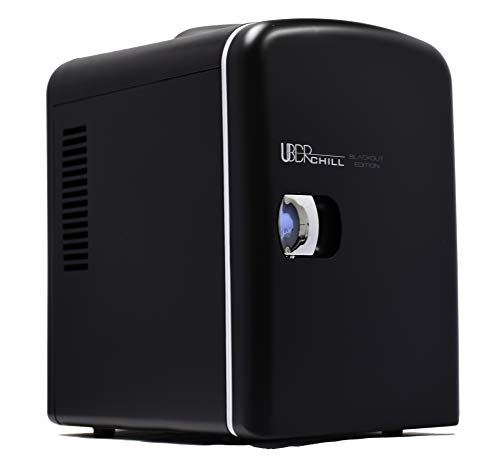 Uber Appliance UB-CH1 Mini Fridge 6 Can/4 Liter Capacity Portable Thermoelectric Cooler Warmer personal…