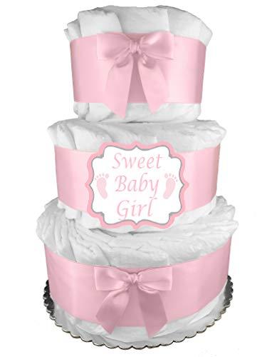 Pink It's a Girl 3-Tier Diaper...