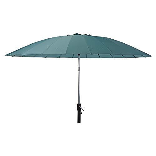 URBNLIVING Outdoor Garden Blue Parasol Metal Umbrella Sunshade Patio Furniture Canopy Décor