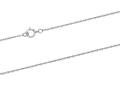 925 Sterling Silver Necklace Chain, 1.0mm Rope Chain, 16'/40cm Length