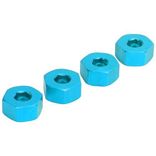 Adapter piasty do WPL, adapter sześciokątny Niełatwy do skręcenia Stabilność Mały rozmiar dla użytkowników samochodów zdalnie sterowanych dla WPL D12 1/10 RC(Blue B)