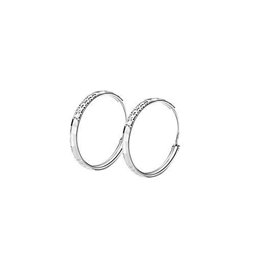T400 Creolen Silber 925 Ohrringe Damen 3 mm Dicke Groß Runde Kreolen Ohrschmuck für Frauen Freundin Mädchen,Durchmesse:25 35 45 55 65 mm