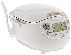 Zojirushi NS-ZCC10 5-1/2-Cup (Uncooked) Neuro Fuzzy Rice Cooker and Warmer, Premium White