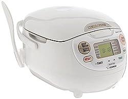 professional Zojirushi NS-ZCC10 Neurofuzzy Rice Cooker 5-1 / 2 cups or more, White Premium, 1.0 liter