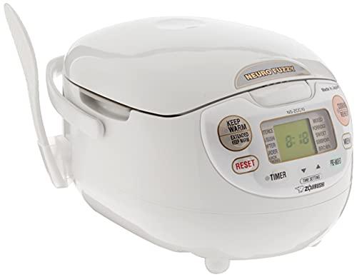 Zojirushi NS-ZCC10 5-1/2-Cup Neuro Fuzzy Rice Cooker and Warmer, Premium White, 1.0-Liter