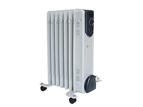 Kingavon Oil Filled 7 Fin 1.5kW Slim line Radiator Heater Adjustable Thermostat