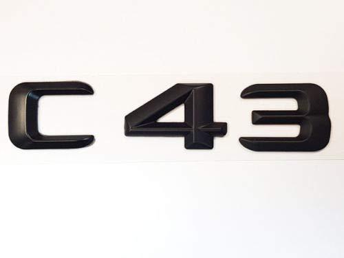 Cks AMG C43 Mattschwarz Emblem Logo Neu AMG Optik für Modelle von 02/2014