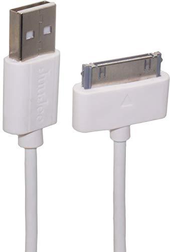 オーディオファン DOCKケーブル 30ピン USBケーブル iPhone4/4S/iPad/iPod対応 2.0m ホワイト