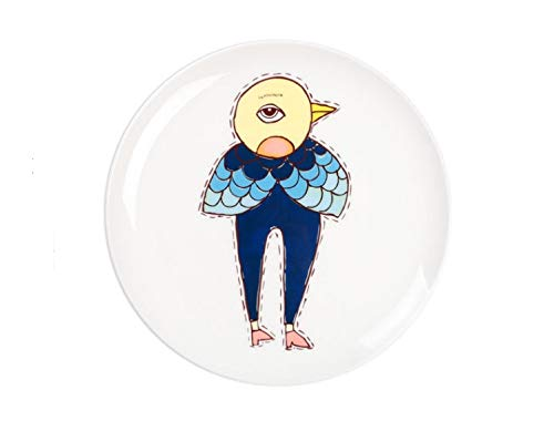 Plato de comida occidental vajilla de cerámica para niños plato de dibujos animados juego de platos plato de cena hogar grotesco birdman plato de 8 pulgadas