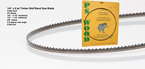 """Timber Wolf 89 1/2"""" x 1/4"""" x 6 tpi Band Saw Blade"""
