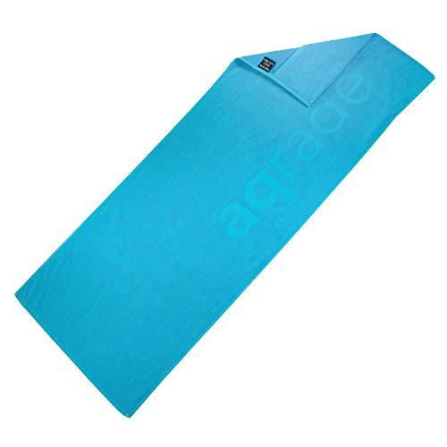 aqrade Sporthandtuch I Fitness Handtuch mit Fixierung I 120x50cm I Gym Handtuch aus 100% Baumwolle I hellblau I XL
