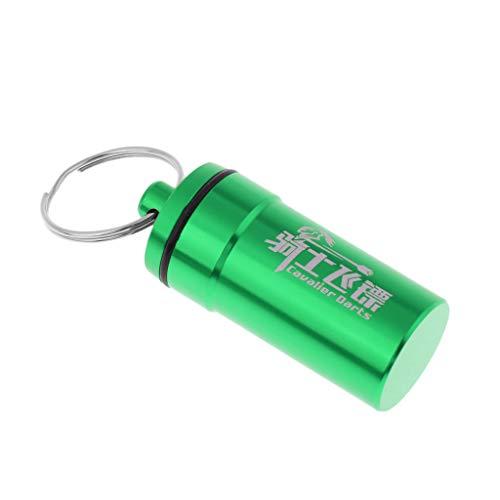 perfk Alu Dart Box Etui Case Tasche Wallet Aufbewahrung für Dart-Pfeile und Zubehör - Grün