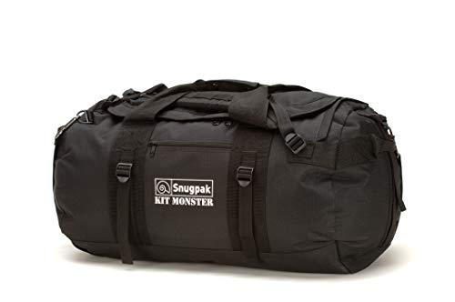 Snugpak | Original Kitmonster 65L | Holdall | 600D Polyester | Heavy Duty (Black, 65L)