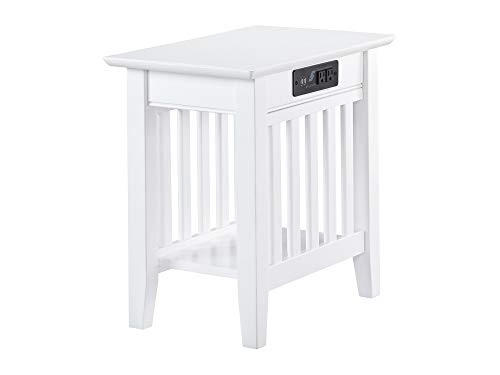Atlantic Furniture Mission End Table, Chair Side (22