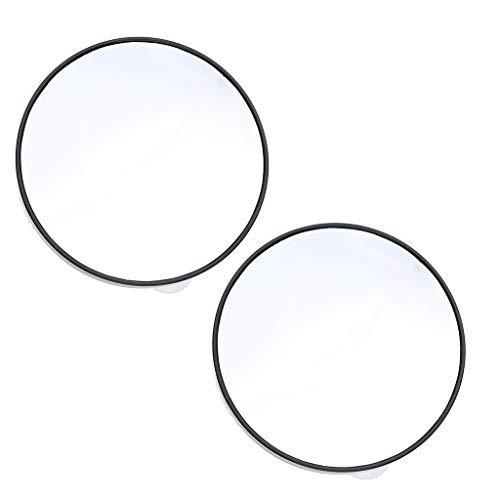 B Blesiya 2pièces Miroir Grossissant 15X Loupe Miroir Cosmétique Ronde avec Ventouses Aspiration Murale pour Maquillage - 10 cm