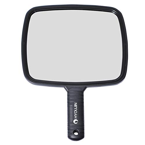 HYOUJIN Hairdressing Hand Mirror Professional Handheld Salon Barbers Hairdressers Paddle Mirror Tool -