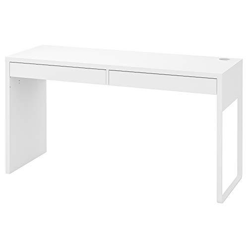 IKEA MICKE Schreibtisch in weiß; (142x50cm)
