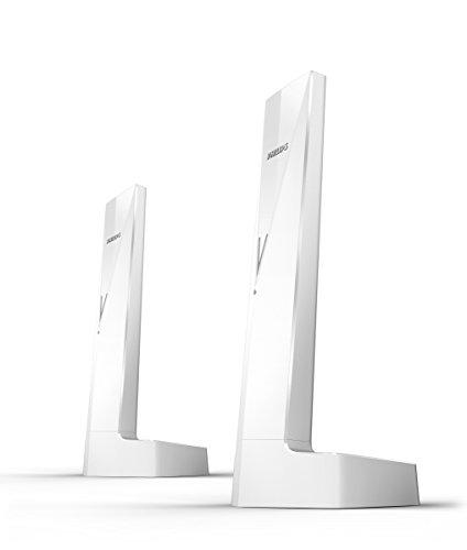 Philips Linea V M3502W 2 - Teléfonos inalámbricos Duo diseños con Manos...