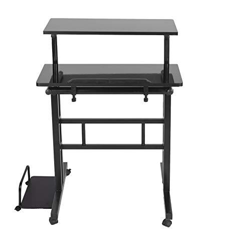 Mind Reader Mobile Sitting Standing Desk Only $32.99 (Retail $79.99)