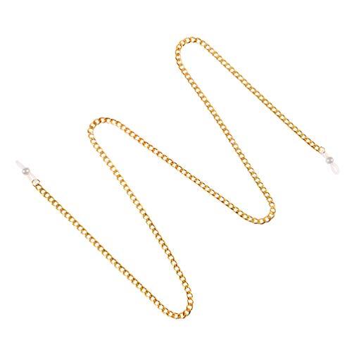 Fenical - Cadena para gafas de sol antideslizante con cordón para mujer y hombre (dorado)