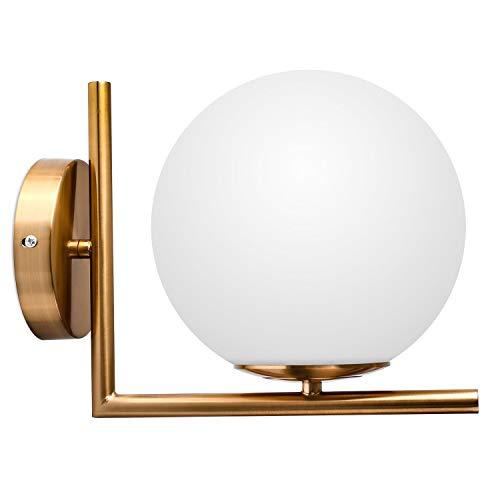 Jackson Wang DECKEY Moderna Lampada da Parete Rotonda Oro a LED per Interni Luce Notturna, Postmoderno a Parete Lampada per Camera da Letto, Corridoio [Classe di efficienza energetica A]
