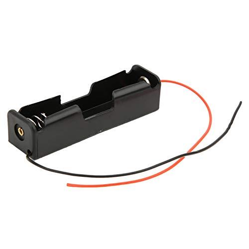 10-teiliger 18650-Batteriehalter, schwarzer 18650-Batteriefach mit einem Steckplatz und 2-adrigem seriellem Anschluss